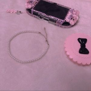 Kawaii Pearl Choker Necklace